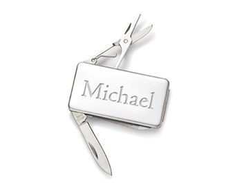 Engraved Stainless Steel 3-Tool Money Clip Personalized Custom Best Man Gift, Groomsman Gift, Stocking Stuffer, Christmas Gift, Gift for Dad