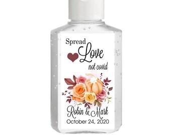 Fall Themed Pumpkin Hand Sanitizer Labels | Rectangular Labels | Baby Shower| Bridal Shower | Wedding Shower