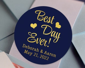 Best Day Ever! Custom Wedding Labels and Stickers for Weddings and Bridal Showers