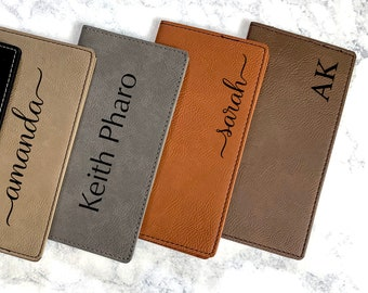 Personalized Checkbook Cover, Leather Checkbook, Checkbook Wallet and Holder, Checkbook Case, Custom Checkbook, Custom Checkbook Covers