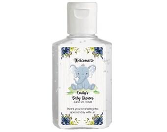 Purell hand sanitizer labels 2 oz. size bottle - Baby Shower Labels - Elephant Baby Shower - Baby Shower Decor - Sanitizer Labels