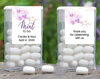Mint to Be Tic Tac Wedding Favor | Wedding Favors | Personalized Labels | Candy Labels | Wedding Favor Labels | Wraparound Labels | Orchid