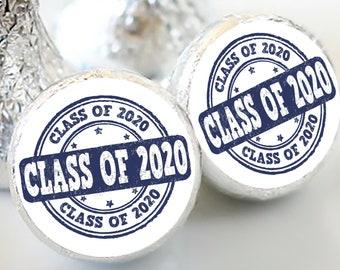 108 Class of 2020 Hershey Kiss® Stickers - Hershey Kiss Stickers - Personalized Hershey Kiss Labels - Class of 2020 - Hershey Kiss Seals