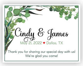 Personalized Botanical Succulents Welcome Box and Bag Favor Labels - Sheet of 6 Labels - 7 Sizes to Choose From - Vintage Desert Accents