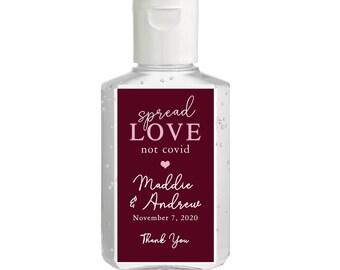 Purell hand sanitizer labels 2 oz. size - Bridal Shower Labels - Hand Sanitizer Labels - Bridal Shower Décor - Spread Love Wedding Favors
