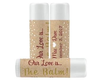Lip Balm Labels - Personalized Lip Balm Labels - Our Love is... labels - 1 Sheet of 12 Lip Balm Labels - Custom Lip Balm Labels - Kraft