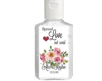 Purell hand sanitizer labels 2 oz. size - Bridal Shower Labels - Hand Sanitizer Labels - Bridal Shower Décor - Spread Love not Covid