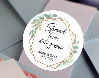 Vintage Greenery Foliage with Gold frame Thank You Labels | Round Labels | Baby Shower| Bridal Shower | Wedding Shower | Birthday