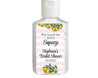 Lemon Hand Sanitizer Labels | Rectangular Labels | Rehearsal | Bridal Shower | Wedding Shower | Lemon Labels