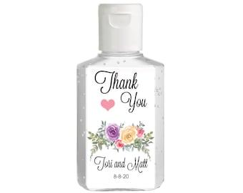 Purell hand sanitizer labels 2 oz. size bottle - Bridal Shower Labels - Hand Sanitizer Labels - Bridal Shower Decor - Thank You