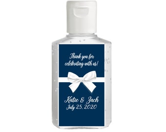 Purell hand sanitizer labels 2 oz. size bottle - Bridal Shower Labels - Hand Sanitizer Labels - Bridal Shower Decor - Ribbon and Bow