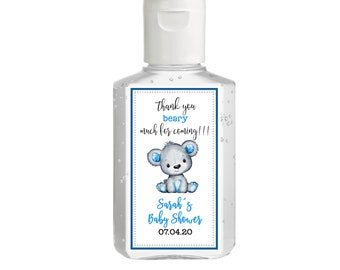 Purell hand sanitizer labels 2 oz. size bottle - Baby Shower Labels - Cute Bear Baby Shower - Baby Shower Decor - Sanitizer Labels