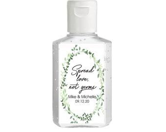 Vintage Greenery Foliage Hand Sanitizer Labels   Rectangular Labels   Baby Shower  Bridal Shower   Wedding Shower