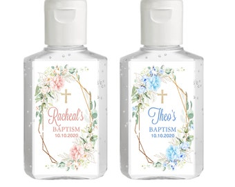 Purell hand sanitizer labels 2 oz. size bottle -  First Holy Communion, Baptism, Communion Favors, Hand Sanitizer Labels