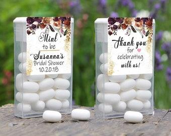 Mint To Be Tic Tac Label, Tic Tac Favors, Wedding, Bridal Shower Favors, Personalized Favor, Tic Tac Wedding Mint Favors, Burgundy Rose