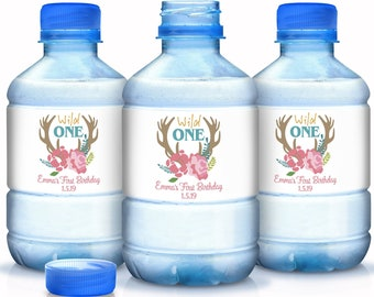 Personalized Wild One First Birthday Water Bottle Labels - Wild One Birthday Party Supplies - Wild One Labels - Wild One Bottle Labels