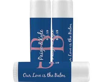 Lip Balm Labels -  Personalized Lip Balm Labels - Monogram - Initials - 1 Sheet of 12 Lip Balm Labels - Lips Lip Balm Labels