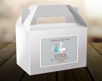 Personalized Welcome Baby Shower Box Labels -  Baby Stork - Baby Shower Labels - Thank You Labels - Multiple Sizes Available