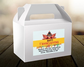 """4"""" x 3""""  Personalized Welcome Box Labels -  30 Thanksgiving Welcome Bag Labels - Favor Labels - Welcome Stickers - Box Stickers"""