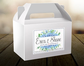 Personalized Welcome Box Labels -  Wedding Welcome Bag Labels - Favor Labels - Welcome Stickers - Box Stickers - Hydrangea