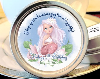 Mermaid Birthday Party Favors | Mermaid Birthday Favors  | Under The Sea Baby Shower or Birthday Party Favors - Our Little Mermaid - 12 Pack