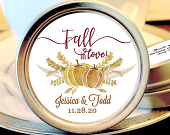 Fall Wedding Mint Favors - Fall Wedding Favors - Fall in Love Bridal Shower - Mint Wedding Favors - Wedding Favors for Guests - Pumpkins