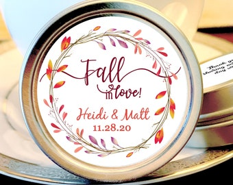 Fall Wedding Mint Favors - Fall Wedding Favors - Fall in Love Bridal Shower - Mint Wedding Favors - Wedding Favors for Guests - Thank you