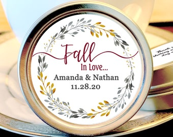 Fall Wedding Mint Favors - Fall Wedding Favors - Fall in Love Bridal Shower - Mint Wedding Favors - Wedding Favors for Guests - Fall in Love