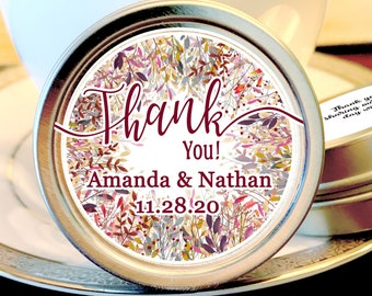 Fall Wedding Mint Favors - Fall Wedding Favors - Fall in Love Bridal Shower - Mint  Wedding Favor - Wedding Favors for Guests - Thank you