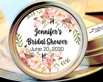 Personalized Bridal Shower Mint Tins, Pink Flowers, Bridal Shower Favors, Bridal Shower Decor, Bridal Shower Mints, Bridal Shower Ideas