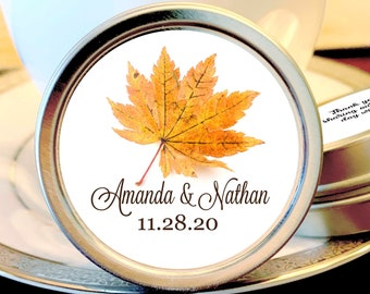 Fall Wedding Favors - Rustic Wedding Favors - Fall in Love Wedding Mints - Mint Wedding Favors- Wedding Favors for Guests - Mint To Be