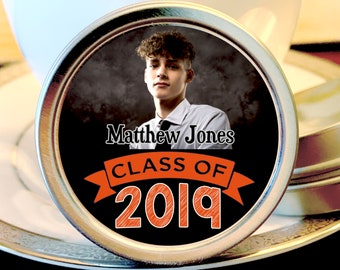 Graduation Mint Tin Favors - Graduation Party Favors - Graduation Photo Favors - Graduation Decor - Graduation Favors - Graduation