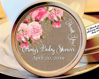 Girl Baby Shower Favors | Mint Baby Shower Favors | Pink and Green Baby Shower | Spring Baby Shower | Summer Baby Shower | Set of 12