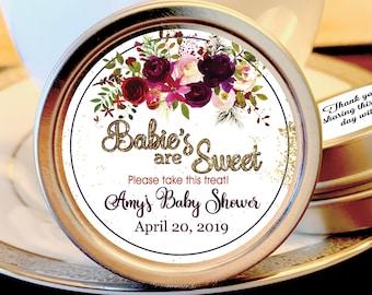 Girl Baby Shower Favors | Mint Baby Shower Favors | Burgundy Rose Baby Shower | Summer Baby Shower | Fall Baby Shower | Set of 12