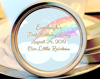 Rainbow Birthday Favors  - Our Little Rainbow -  Pastel Rainbow - Birthday Favors - Baby Shower Favors - Party Favors - Favor Boxes