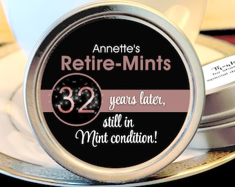 Retirement Mint Tins   Still in Mint Condition   Retire Mints   Retirement Favors   Retirement Party Decor   Set of 12