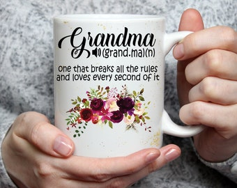 15 oz Grandma Definition Mug, Mother's Day Coffee Mug, Mother's Day Gift, Mothers Day, Gift for Mother, Gift for Mom