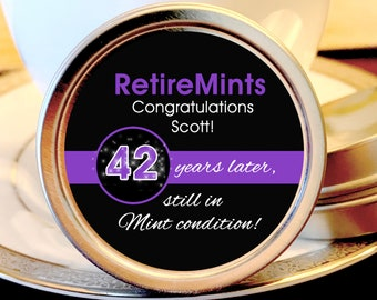 140 Retirement Mint Tins - Still in Mint Condition | Retire Mints | Retirement Party Favors | Retirement Party Decor | Retirement Favors