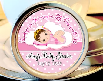 Princess Baby Shower Favors |  Girls Baby Shower | Princess Favors | Baby Shower Gifts | Baby Shower Mint TIns | Baby Shower Decor