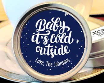 12 Personalized Christmas Mint Tins Favors  - Christmas Favors - Christmas Decor - Christmas Gift Ideas - Stocking Stuffers - Gift Ideas