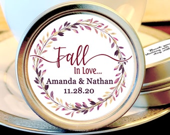 Fall Wedding Mint Favors - Fall Wedding Favors - Fall in Love Bridal Shower - Mint Wedding Favors - Wedding Favors for Guests - Fall in Love