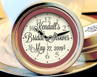 12 Personalized Bridal Shower Mint Tins, Around the Clock, Bridal Shower Favors, Bridal Shower Decor, Bridal Shower Mints, Set of 12