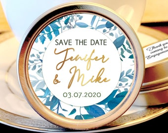 Save the Date Favors - Personalized Engagement Favors - Save The Date Ideas - Save the Date Mints - 12 Mint Favors