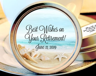 Retirement Mint Tins | Best Wishes on your Retirement | Retire Mints | Retirement Favors | Retirement Party Decor