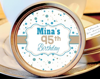 Milestone Birthday Dots Design Mint Favors Mint Tins - Milestone Birthday Favors - Birthday Decor - Birthday Mints - Birthday Breath Mints