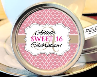 Sweet 16 Favors - Sweet 16 Birthday Favors - Pink Favors - Birthday Favors - Birthday Party Decor - Party Supplies