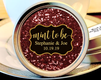 Fall Wedding Favors - Wedding Mint Tins - Fall Mint Wedding Favors - Fall Weddings - Wedding Mints - Fall Wedding Decor- Mint to Be