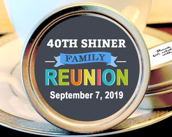12 Family Reunion Mint Tins - Family Reunion Decor - Backyard BBQ - BBQ Favors - Family Reunion Favors - Picnic Favors - Reunion Mints