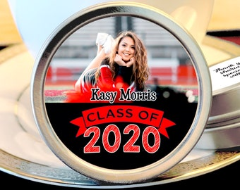 Personalized Graduation Mint Tins | Class of 2020 |  Grad | Graduate Party Favors | Diploma Keepsake Thank You Gifts | Class of 2020