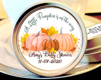 Personalized Pumpkin Baby Shower Favors, Autumn Baby Shower, Girl Baby Shower, Boy Baby Shower, Candy, Party Favors, Gift